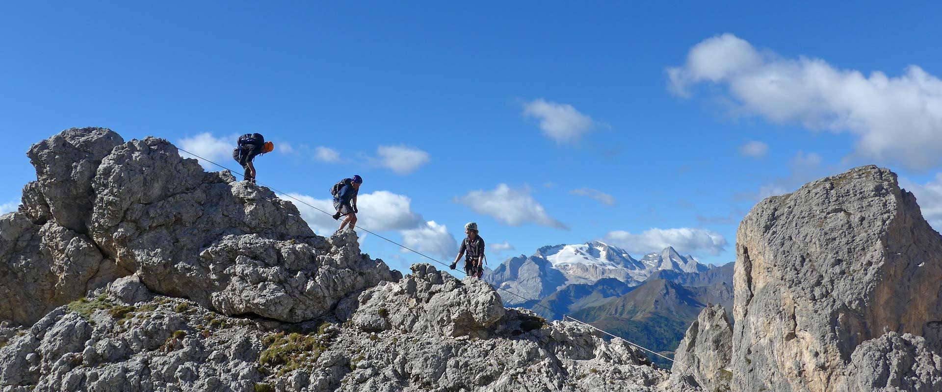 Via Ferrata degli Alpini o Ferrata Col dei Bos